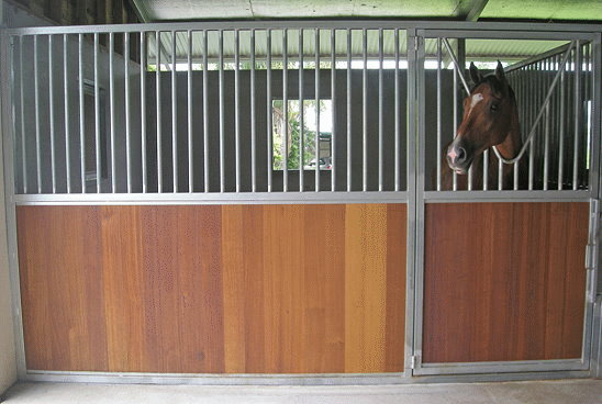 Front Stable Panel - Scalloped Hinged Door (Tasmanian Oak)